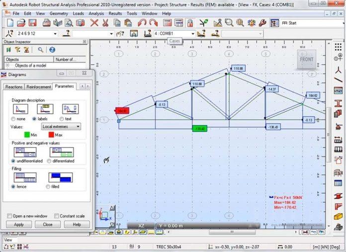 مدلسازی خرپا در Autodesk Robot Structural Analysis