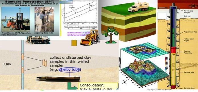 بررسی مقدماتی سایت در مسائل مهندسی ژئوتکنیک