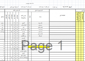 گزارش روزانه کارگاه