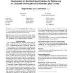 تفسیر مشخصات استاندارد برای رواداری در ساخت و ساز با بتن ACI 117R-90
