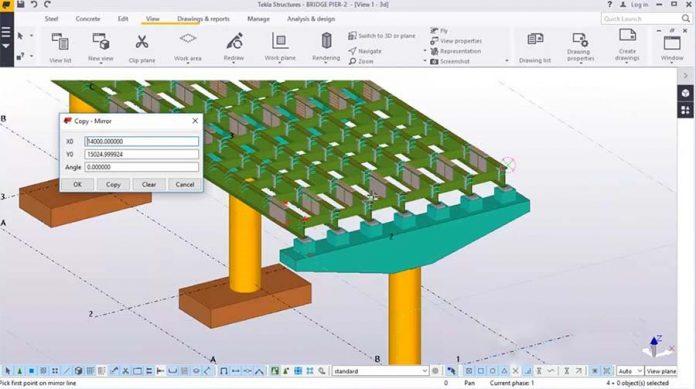 مدلسازی دال بتنی درجاریز و جانمایی برشگیرهای عرشه پل در نرم افزار Tekla Structures 2016