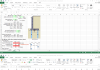 دانلود فایل اکسل طراحی دیوار حائل با در نظر گرفتن شمع در پی