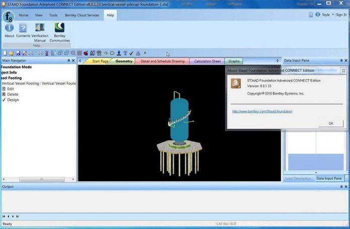 دانلود نرم افزار تحلیل پی STAAD Foundation Advanced CONNECT Edition v08.00.01.33