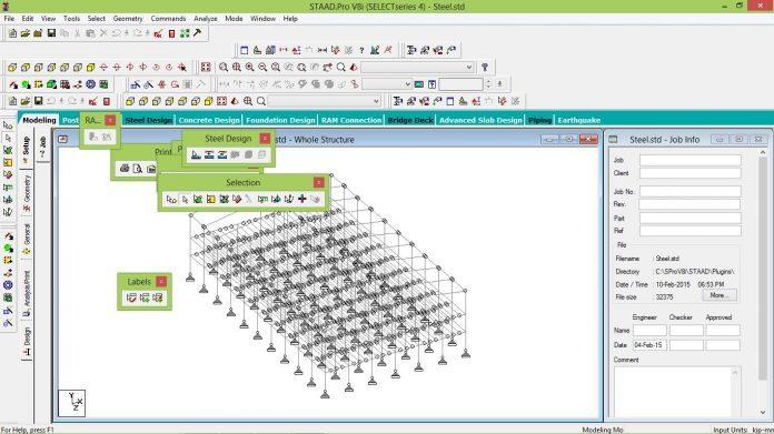 دانلود نسخه قابل حمل نرم افزار STAAD Pro V8i