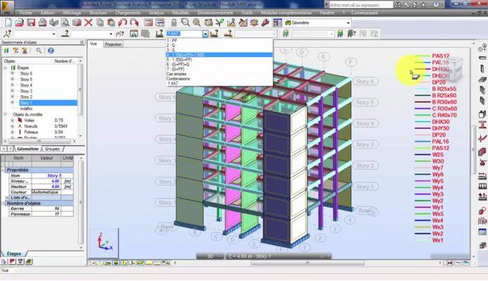 دانلودویدیوی آموزشی آموزش مدلسازی و طراحی ساختمان بتنی در نرم افزار Robot Structural