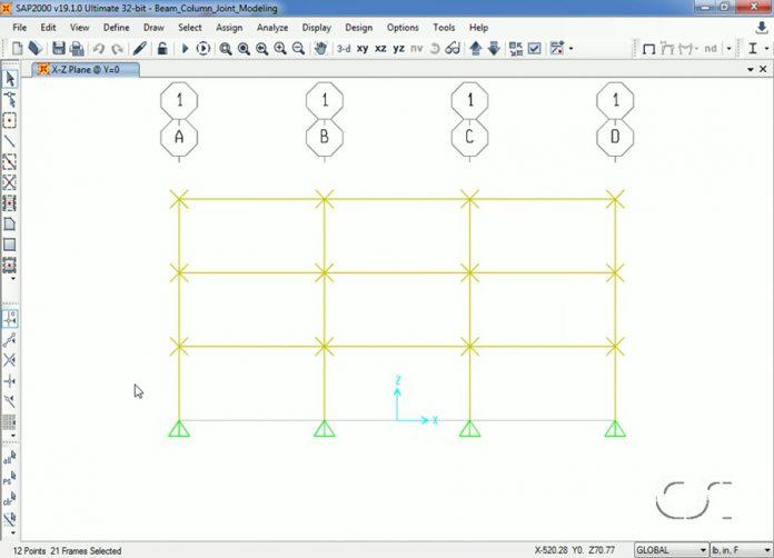 دانلودویدیوی آموزشی مدلسازی اتصالات انعطاف پذیر تیر به ستون در نرم افزار SAP2000