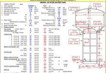 دانلودفایل اکسل طراحی مخزن بتنی هوایی آب