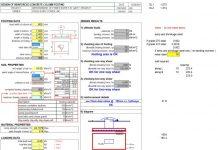 دانلود فایل اکسل طراحی ستون بتنی به همراه پی منفرد
