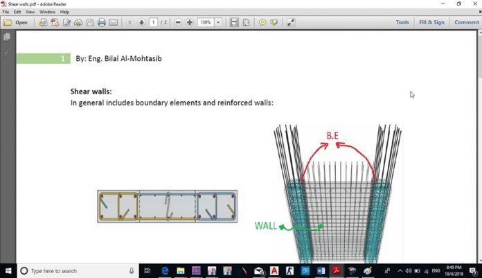 دانلودویدیوی آموزش طراحی و ترسیم جزئیات تیر ستون و دیوار برشی در نرم افزار ETABS