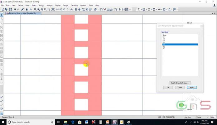 دانلودویدیوی آموزش طراحی و دیتیل گذاری دیوار برشی بتنی در نرم افزار ETABS 2016