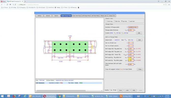 دانلودویدیوی آموزش طراحی ورق وصله اتصالات فلزی مطابق AISC