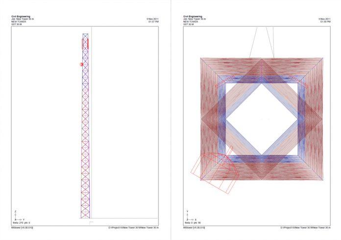 دانلودنمونه گزارش طراحی فنداسیون دکل های مخابرات