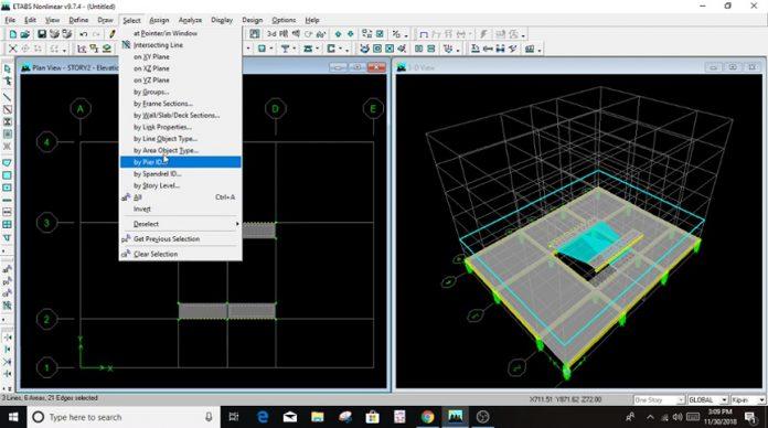 دانلودویدیوی نحوه مدلسازی راه پله و پای گرد پله در نرم افزار ETABS