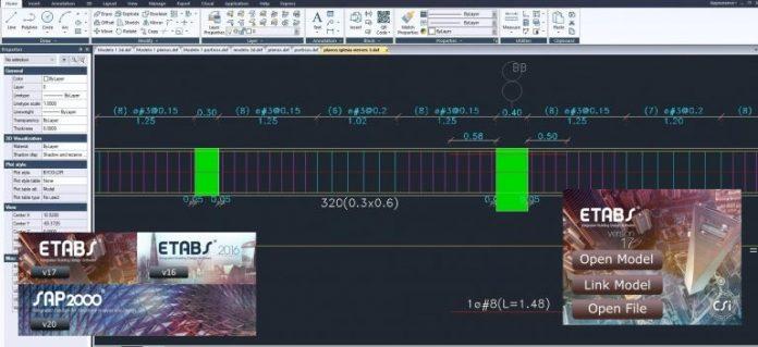 ترسیم جزئیات نقشه های سازه نرم افزارهای CSI توسط نرم افزار CSI-Detailing V3.1