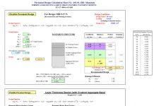 دانلودفایل اکسل طراحی روسازی انعطاف پذیر مطابق آیین نامه AASHTO