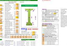 دانلودفایل اکسل طراحی شاهتیرهای پیش تنیده پلها مطابق AASHTO LRFD