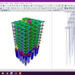 دانلود ویدیوی آموزشی مدلسازی ساختمان همزمان با کلاهک شمع ها (پی عمیق) در نرم افزار ETABS