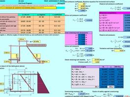 فایل اکسل تحلیل و طراحی دیوار حائل وزنی