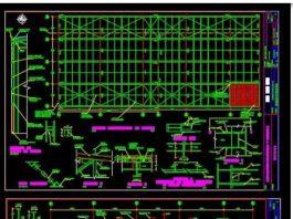 دانلود فایل اتوکد سازه انبار صنعتی فلزی