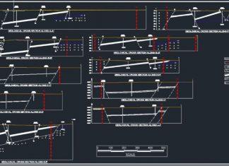 دانلود فایل اتوکد الگوی ترسیم پروفیل طولی زمین شناسی