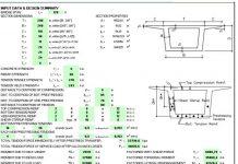 دانلود فایل اکسل طراحی و کنترل سگمنتهای بتنی پل های پیش ساخته (طره متعادل)