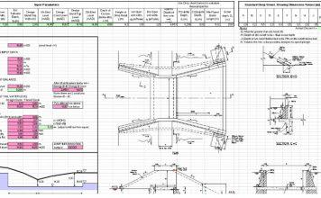 دانلود فایل اکسل طراحی و کنترل دراپ کانال آبیاری و زهکشی