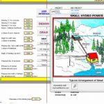 دانلود فایل اکسل محاسبه ظرفیت تولید نیروگاه های برق آبی کوچک مقیاس