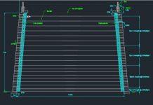 دانلود فایل اتوکد نقشه خاکریز ساخته شده از خاک مسلح