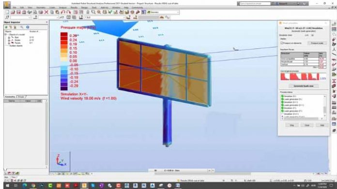 طراحی بیلبورد تبلیغاتی فلزی با استفاده نرم افزار Robot Structural