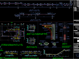 دانلود نقشه اتوکد جزئیات پله و دال بتن مسلح