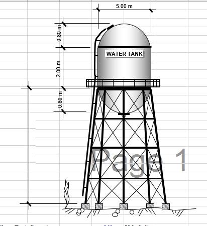 فایل اکسل آنالیز و طراحی مخزن فلزی آب هوایی