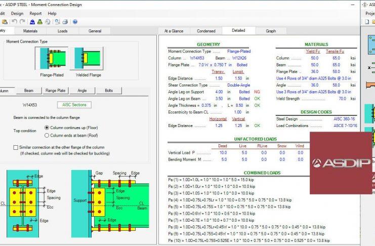 دانلود مجموعه نرم افزارهای ASDIP طراحی المانها و اتصالات سازه ای بتنی و فولادی