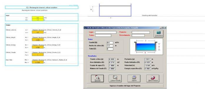 دانلود فایل اکسل محاسبه ظرفیت دبی کانال ها و مجرای جریان آزاد
