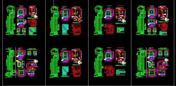 دانلود نقشه اتوکد آسانسور به همراه جزئیات برق و مکانیک