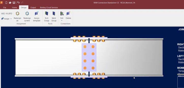 آموزش طراحی اتصالات فلزی