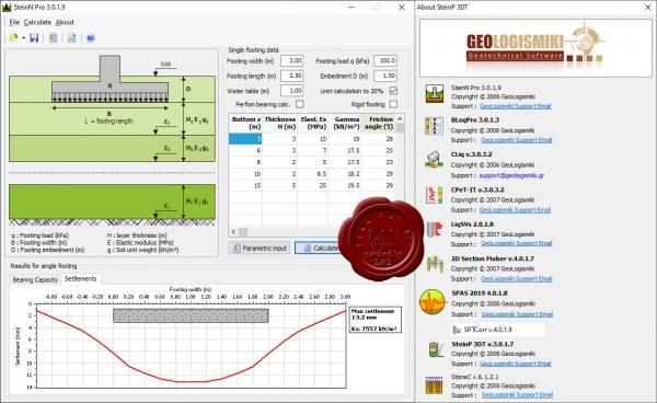 دانلود نرم افزار جامع آنالیز و تهیه گزارش آزمایش های صحرایی ژئوتکنیک GELOGISMIKI Suite