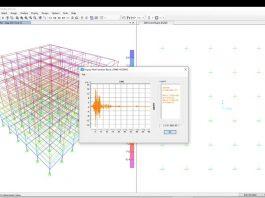 دانلود ویدیوی آموزش تحلیل تاریخچه زمانی ساختمان 10 طبقه فولادی در نرم افزار SAP2000